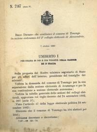 che costituisce il comune di Tonengo in sezione autonoma del 2° collegio elettorale di Alessandria.