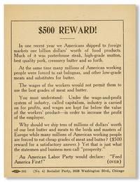 "Campaign Handbill: ""The Situation / $500 Reward"""