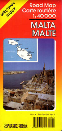 Malta Road Map with Separate Index 1:40,000
