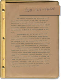 image of Egy, ketto, harom [One, Two, Three][The President] (Original script for the 1930 play)