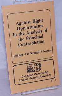 image of Against right opportunism in the analysis of the principal contradiction: criticism of In Struggle!'s position
