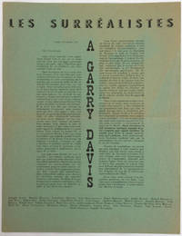 Les Surréalistes à Garry Davis [exemplaire sur papier vert]