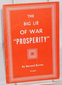 The big lie of war 'prosperity'