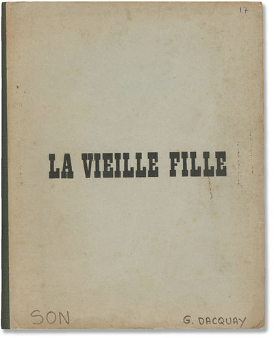 Paris: Lira Films, 1971. Draft script for the 1972 French film (text in French), belonging to uncred...