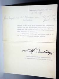 1 Typed Letter Signed, July 5, 1915 re