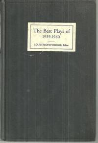BEST PLAYS 1959-1960 And the Year Book of the Drama in America