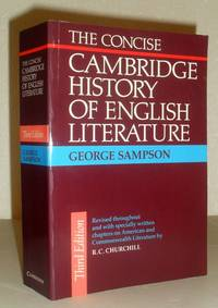 The Concise Cambridge History of English Literature - Third Edition