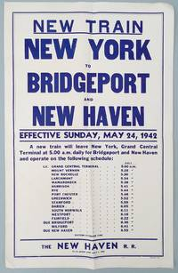 New Haven Railroad 1942 Broadside / New Train from Grand Central