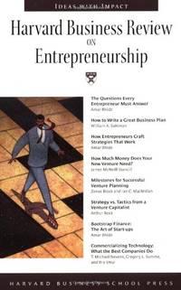 """Harvard Business Review on Entrepreneurship (""""Harvard Business Review"""" Paperback S.)"""