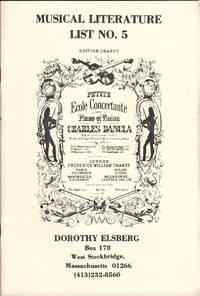 image of Musical Literature List No. 5
