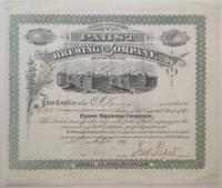 Autographed Stock Certificate