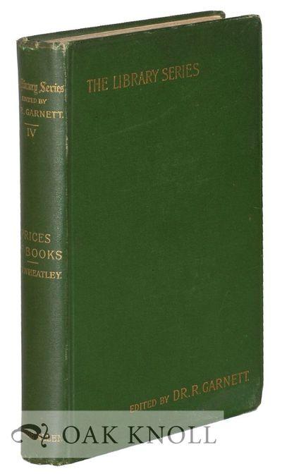 London: George Allen, 1898. original cloth. small 8vo. original cloth. xvi, 275 pages. First edition...
