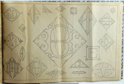Lyon: Léon Sézanne, 1870. Oblong quarto. 32pp. A rich collection of embroidery patterns, including...