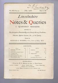 Lincolnshire Notes and Queries, Vol XIX No 151, July 1926