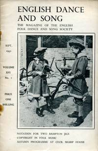 image of English Dance and Song  :The Magazine of the English Folk Dance and Song Society : Vol XVI No 2  Sept 1951