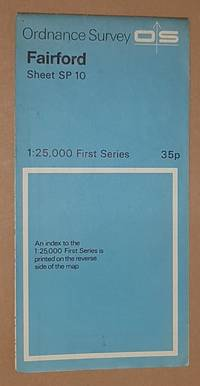 Fairford. 1:25000 First Series Map Sheet SP 10