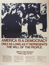 View Image 1 of 2 for America Is a Democracy... (poster) Inventory #25558