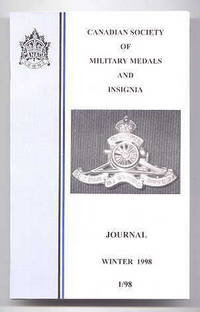 image of CANADIAN SOCIETY OF MILITARY MEDALS AND INSIGNIA JOURNAL.  WINTER 1998.