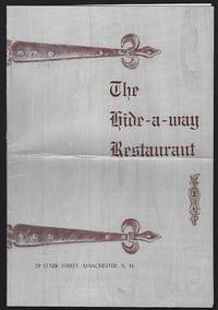 VINTAGE MENU FOR THE HIDE-A-WAY RESTAURANT, MANCHESTER, NEW HAMPSHIRE