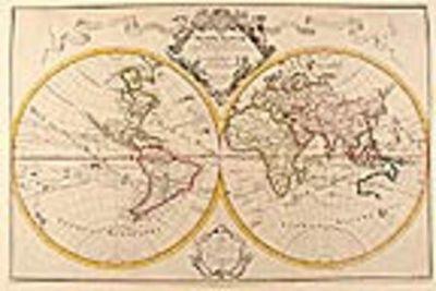 Paris: Chez l'Auteur Rue des Canettes pres de St. Sulpice, 1700. Copper-engraved map, hand-coloured ...