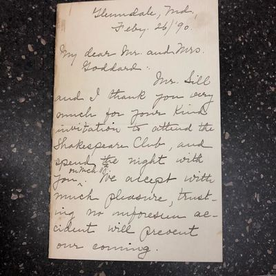 Other. Folded ALS by the poet Louise Morgan Sill. Minor wear, ink and signature clean and clear. Res...