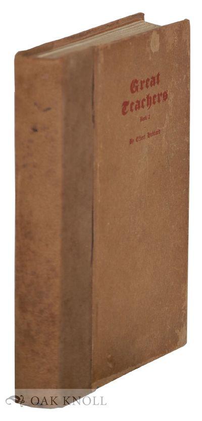 East Aurora: The Roycrofters, 1908. stiff paper wrappers, cord-tied. Hunter, Dard. 8vo. stiff paper ...