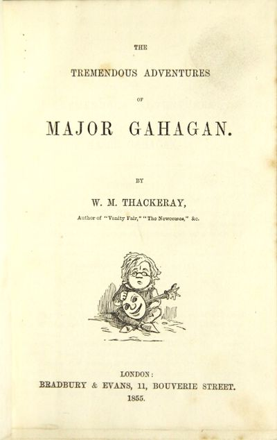 London: Bradbury & Evans, 1855. First edition thus, 8vo, pp. 75, Van Duzer 227; bound with: Thackera...
