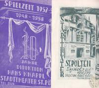 Stadttheater St. Pölten. Spielzeit 1957-58. Und: Spielzeit 1958/59.