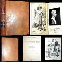 1884 THE ADVENTURES OF HUCKLEBERRY FINN MARK TWAIN ORIGINAL SHEEPSKIN LEATHER 1 of 2,500 COPIES 174 E.W. KEMBLE ILLUSTRATIONS