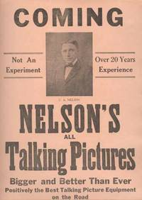 EARLY TALKING PICTURE PLAYBILL;
