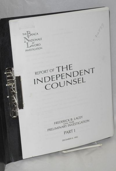 : Counsel, 1992. 190p., 8.5x11 inches sheets bound in a metal clasp binder with plain stiff black pa...