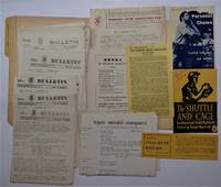The WMA Bulletin, 1955 - 1959, 49 Issues, Plus 14 Pieces of Related WMA and Topic Records Ephemera