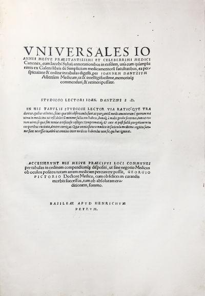 RARE EDITION OF MASAWAIH CANONS