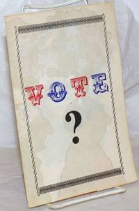 image of Vote? [Four-panel brochure with color comix centerfold]