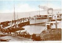 "P.S. ""Hygeia"" leaving Mornington, Victoria. Postcard Australian."