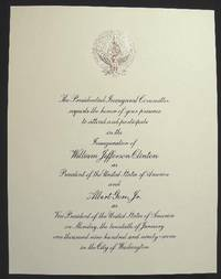 1997 Large Format Invitation for the Inauguration of William Jefferson Clinton as President