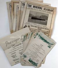 [Archive of Ephemera from a Voyage to Alaska Aboard the Alaska Line, Including Menus and Five Issues of the Shipboard Newspaper, The Morning Alaskan]