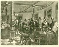 In the reading-room of the Fifth Avenue Hotel [New York], discussing the news from Chicago