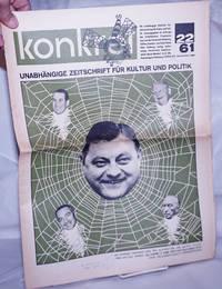 image of Konkret, 1961, Nov 20, No. 22 Unabhängige Zeitschrift Für Kulture und Politik