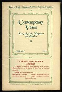 Contemporary Verse: February 1919 by  and others  Katherine Lee Bates - 1919 - from Between the Covers- Rare Books, Inc. ABAA (SKU: 74135)