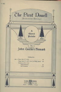 THE FIRST NOWELL-THE FIRST NOEL-TRADITIONAL MELODY-A CHORAL PRELUDE PIANO  SHEET MUSIC