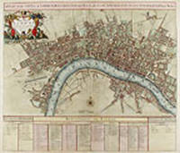 A Plan of the City's of London, Westminster and Borough of Southwark with the new Additional Buildings Anno 1720