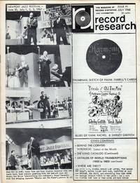 Record Research: The Magazine of Record Statistics and Information, Issue 91, July 1968 by Colton, Bob; Kunstadt, Len - 1968