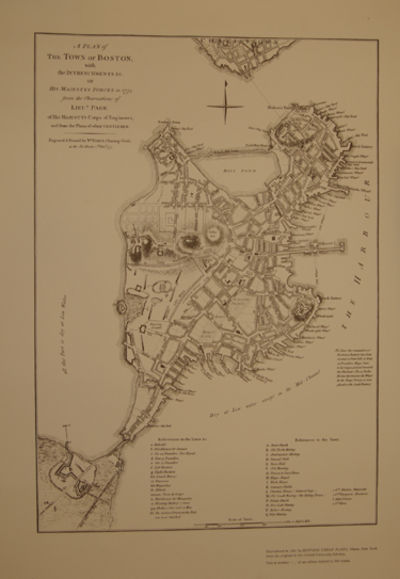 London: Engraved & Printed by Wm. Faden, 1777. Facsimile Reproduction of 1965. A fine map of the tow...