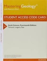 MasteringGeology with Pearson eText   Valuepack Access Card   for Earth Science