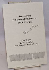 25th annual Northern California Book Awards [program booklet signed by Diane di Prima]