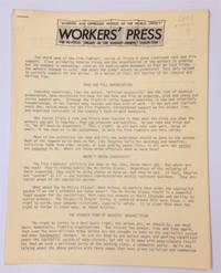 image of Workers' Press. The political organ of the Marxist-Leninist Collective