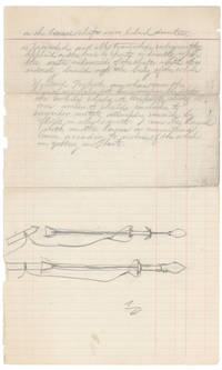Group of 8 whaling manuscripts, including drawing of original lance design