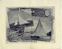"""""""Ethelwynn"""", 1/2 Rater, Winner of the International Challenge Cup September 1895.  Sales flyer for the maker of the yacht which won the Seawanhaka Cup"""