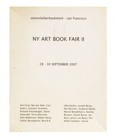 [From cover of box]: NY Art Book Fair...